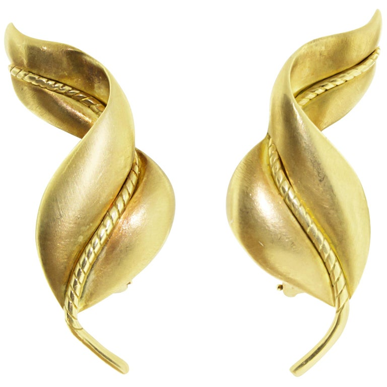 Tiffany & Co. Gold Ear Clips For Sale