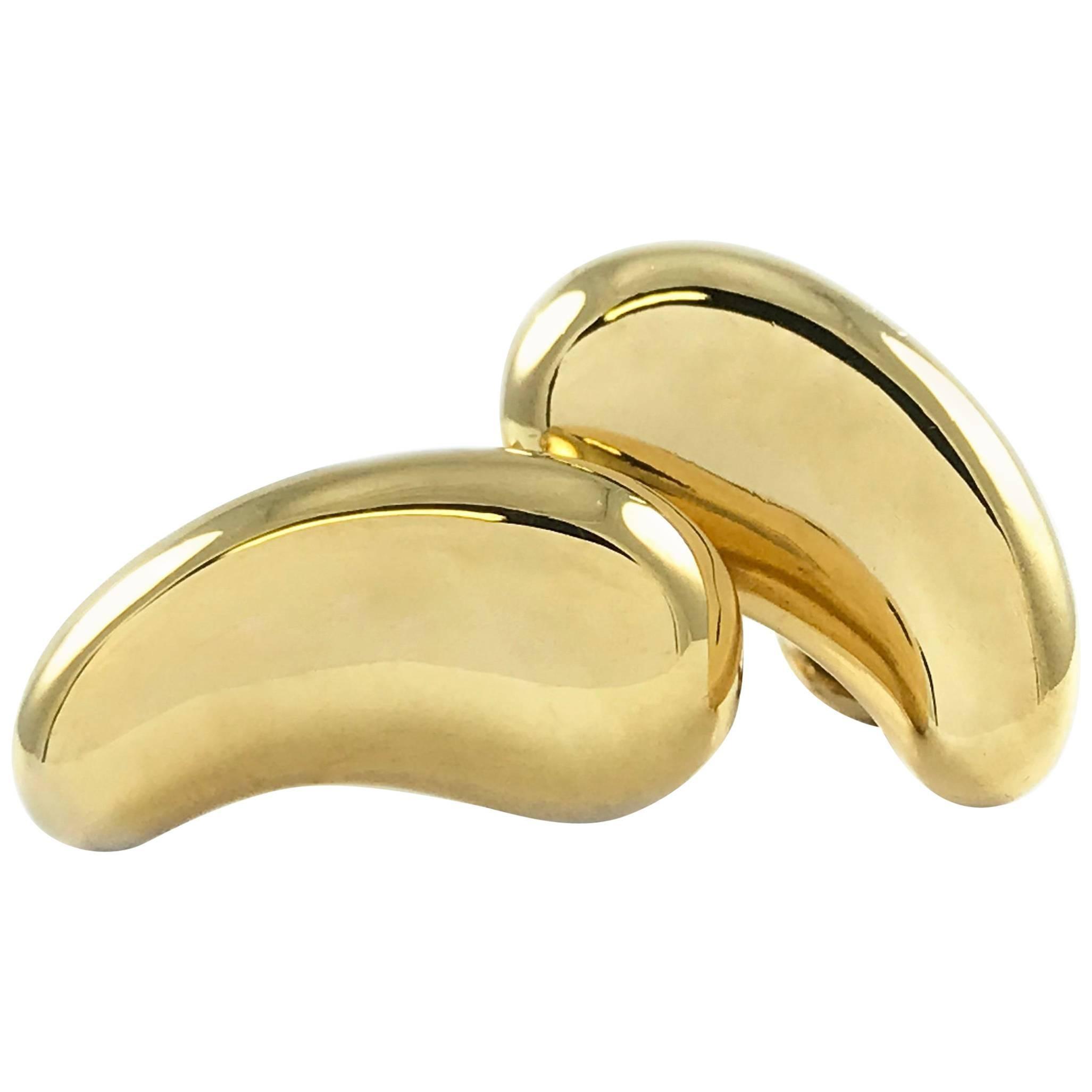 "Tiffany & Co. 18 Karat Gold Elsa Peretti ""Bean""Earrings"