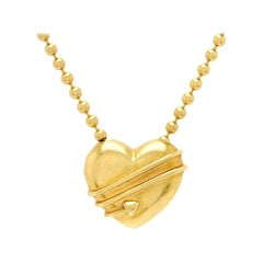 Tiffany & Co. Gold Heart Chain Pendant