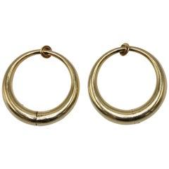 Tiffany & Co. Gold Hoop Earclips