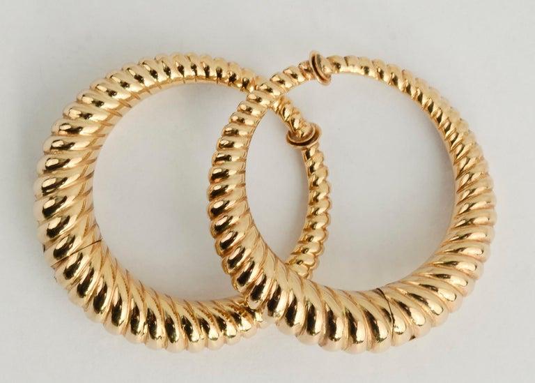 Modern Tiffany & Co. Gold Hoop Earrings For Sale