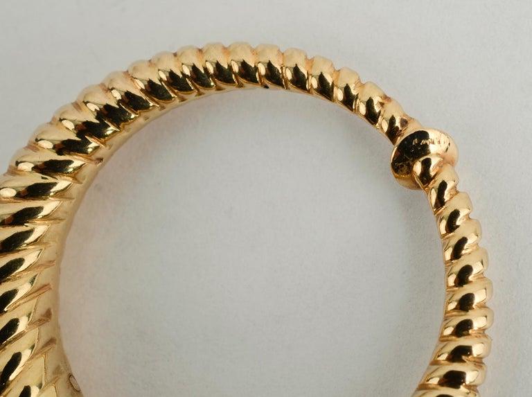 Women's or Men's Tiffany & Co. Gold Hoop Earrings For Sale