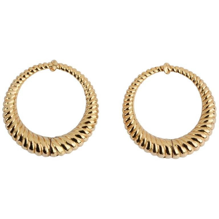 Tiffany & Co. Gold Hoop Earrings For Sale
