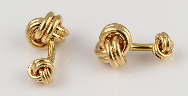 207b29913 Tiffany and Co. Gold Knot Cufflinks and Studs Tuxedo Set For Sale at ...