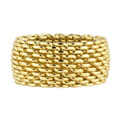 Tiffany & Co. Gold Mesh Somerset Ring