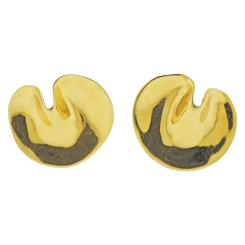 Tiffany & Co. Gold Petal Earrings