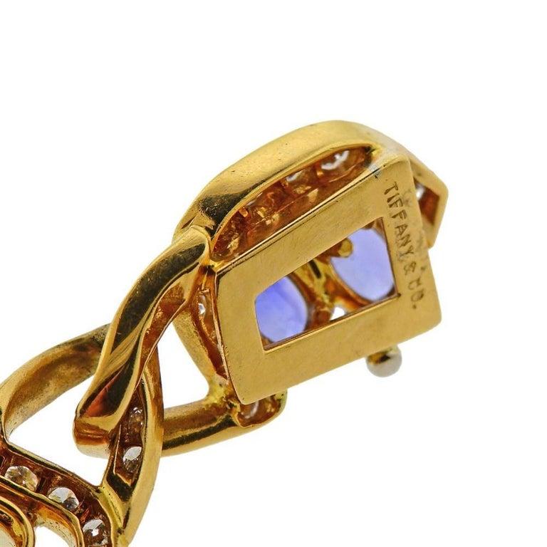 Women's Tiffany & Co. Gold Pink Blue Yellow Sapphire Bracelet For Sale