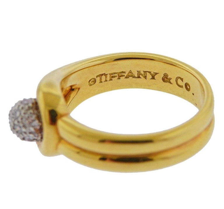 Women's Tiffany & Co. Gold Platinum Diamond Ring For Sale