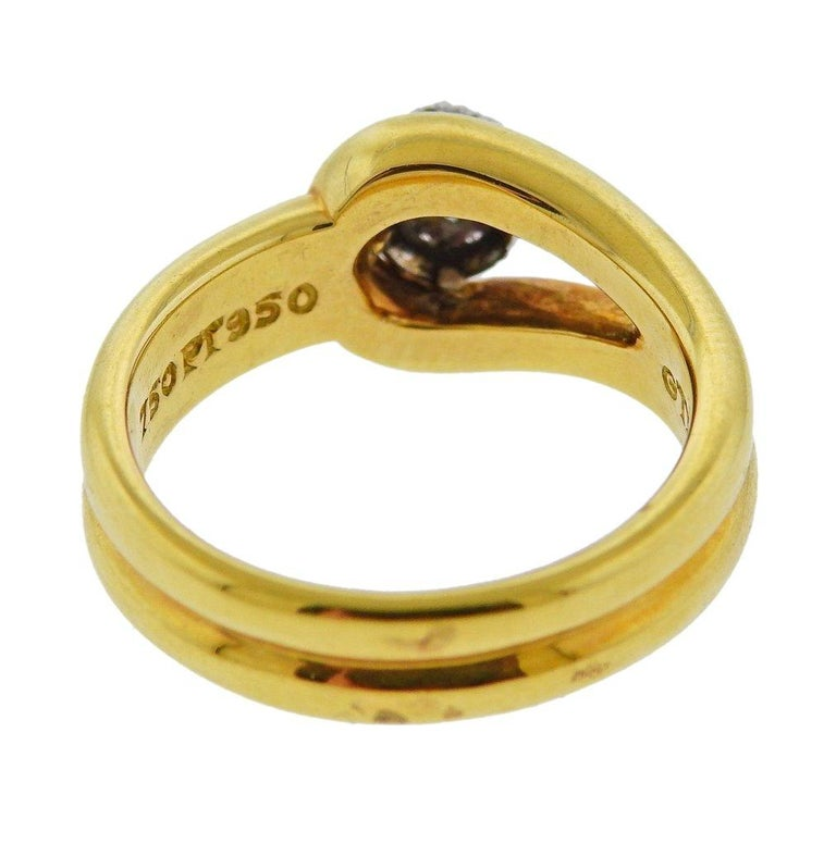Tiffany & Co. Gold Platinum Diamond Ring For Sale 1