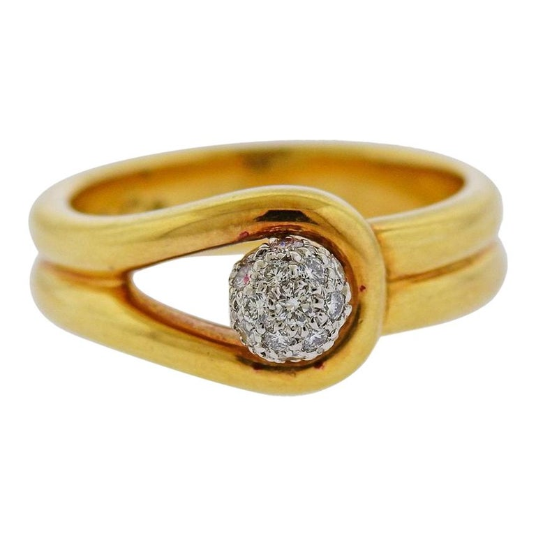 Tiffany & Co. Gold Platinum Diamond Ring For Sale