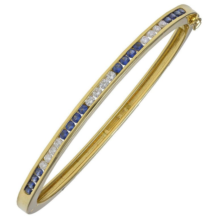 Tiffany & Co. Gold Sapphire and Diamond Bracelet For Sale