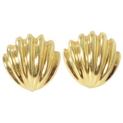 Tiffany & Co. Gold Seashell Earrings