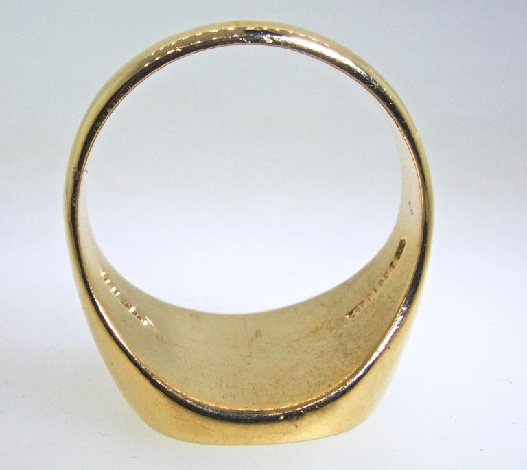 Tiffany And Co Gold Signet Ring At 1stdibs