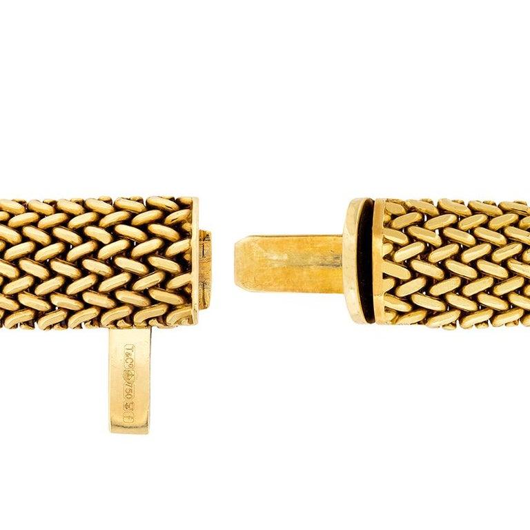 Tiffany & Co. Gold Somerset Necklace and Bracelet Set For Sale 1