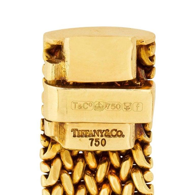 Tiffany & Co. Gold Somerset Necklace and Bracelet Set For Sale 2