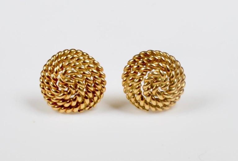 Tiffany & Co. 18 Karat Gold Spiral Stud Earrings For Sale 2