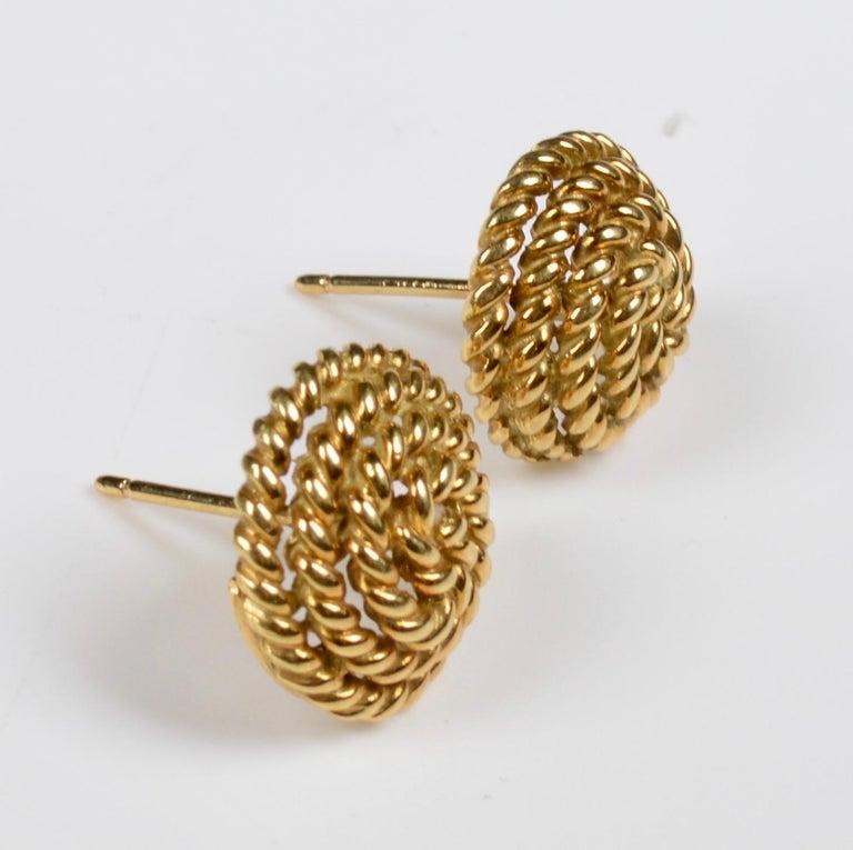 Tiffany & Co. 18 Karat Gold Spiral Stud Earrings For Sale 3