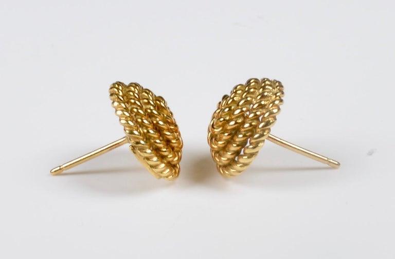 Tiffany & Co. 18 Karat Gold Spiral Stud Earrings For Sale 4