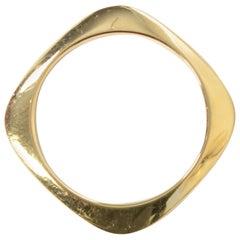Tiffany & Co. Gold Square Bangle Bracelet