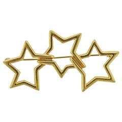 Tiffany & Co. Gold Star Brooch Pin