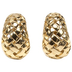 "Tiffany & Co. Gold ""Vannerie"" Earrings"