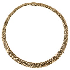 "Tiffany & Co. Gold ""Vannerie"" Necklace"
