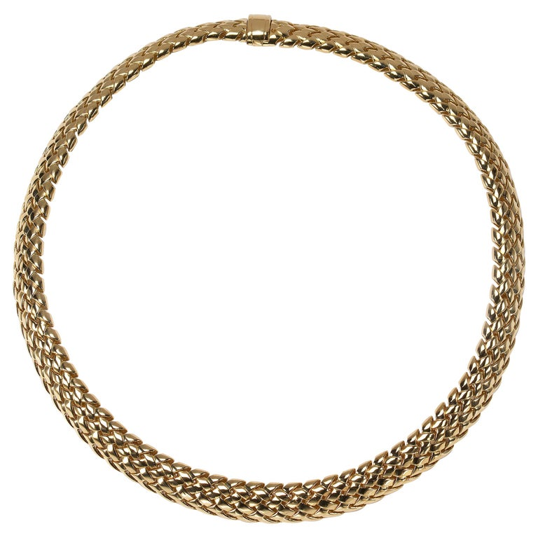 """Tiffany & Co. Gold """"Vannerie"""" Necklace For Sale"""