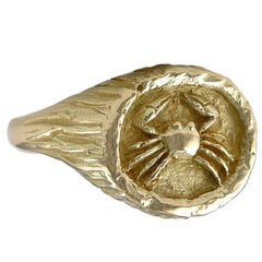 Tiffany & Co. Gold Zodiac Cancer Ring