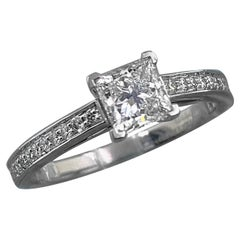 Tiffany & Co. Grace Princess Diamond Engagement Ring 0.76 Tcw E VVS1 Platinum