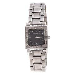 Tiffany & Co. Grey Stainless Steel Atlas 30260324 Women's Wristwatch 23MM