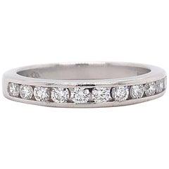 Tiffany & Co Half Circle Round Diamond 0.33 Carat Wedding Band Ring Platinum