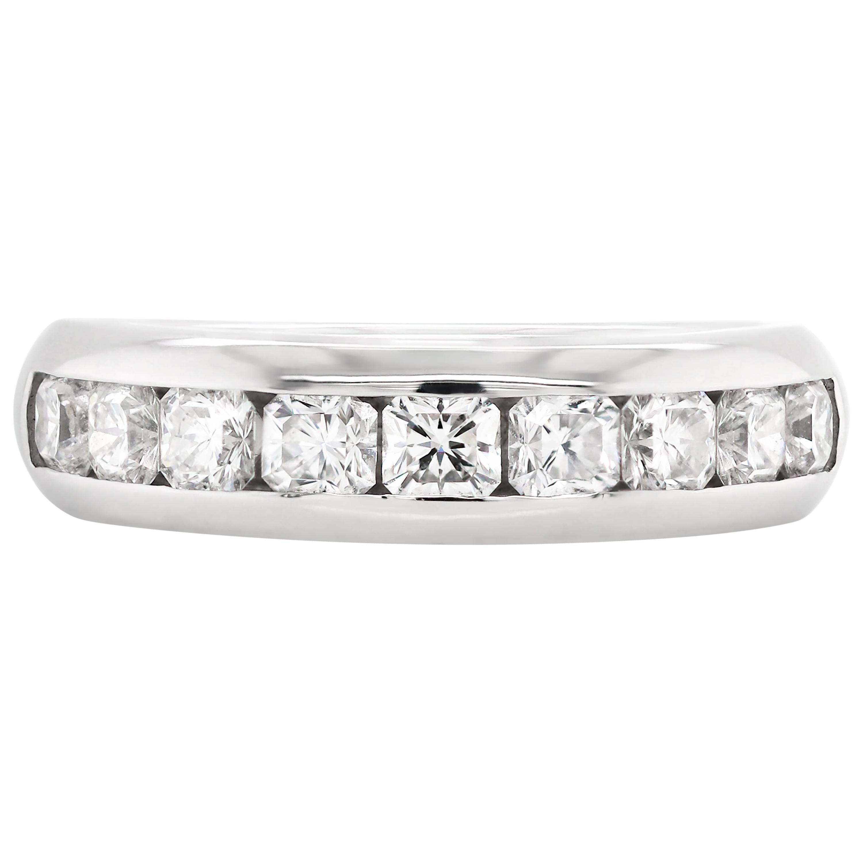 Tiffany & Co. Half Eternity Lucida Diamond Platinum Band
