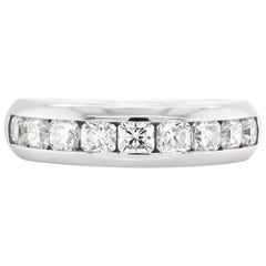 Tiffany & Co. Half Eternity Lucida Diamond Platinum Band