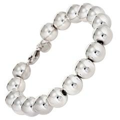 Tiffany & Co. Hardwear Ball Bracelet Sterling Silver Bead Estate Fine Jewelry