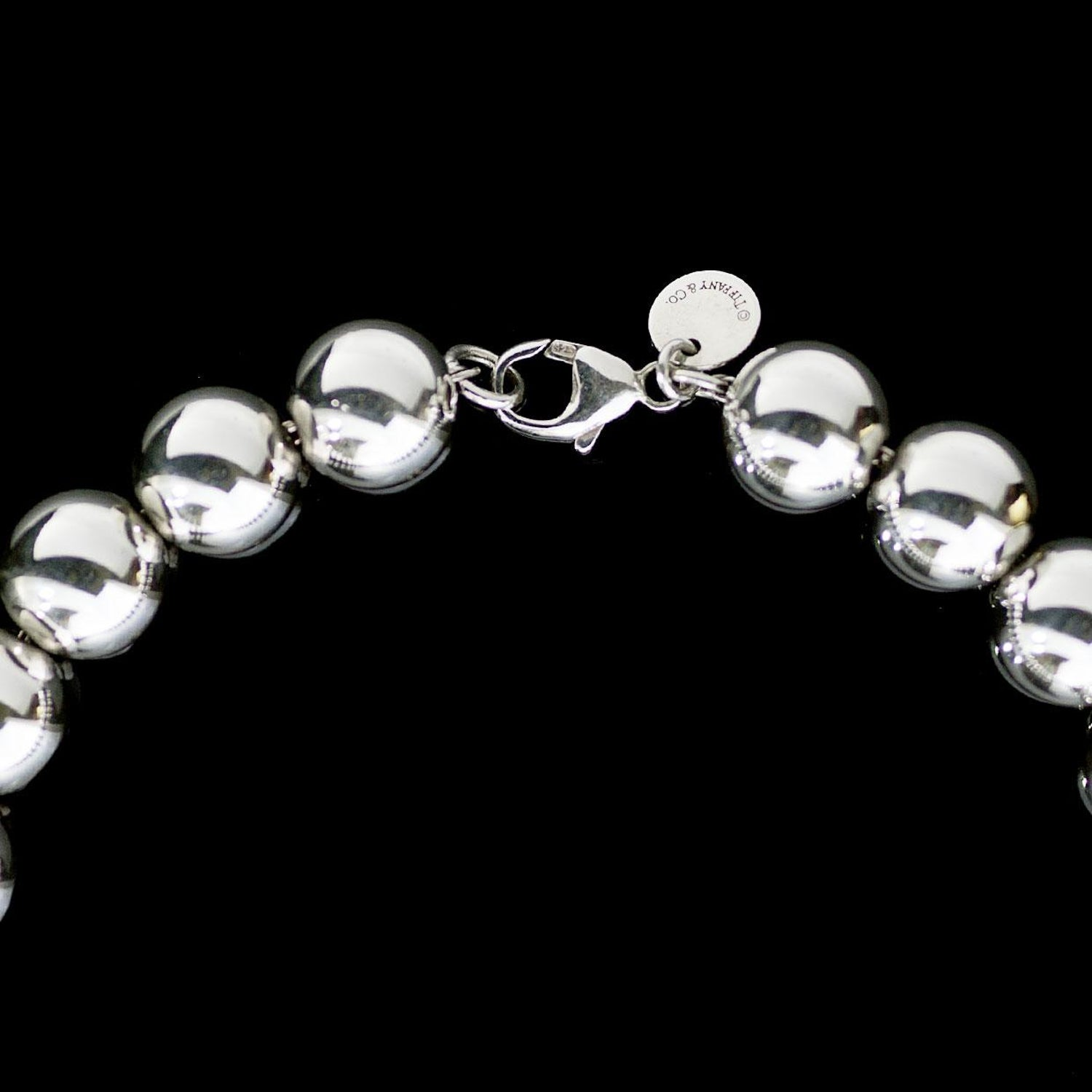 039162fe3 Tiffany and Co. HardWear Sterling Silver Bead Ball Chain Necklace at 1stdibs