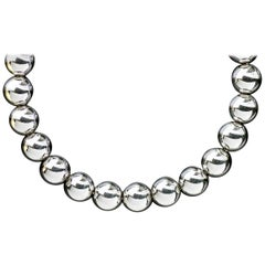 Tiffany & Co. HardWear Sterling Silver Bead Ball Chain Necklace