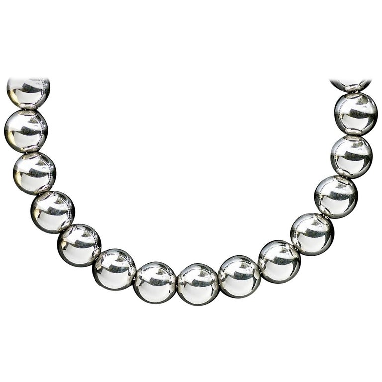 e67b71bc9 Tiffany & Co. HardWear Sterling Silver Bead Ball Chain Necklace For Sale