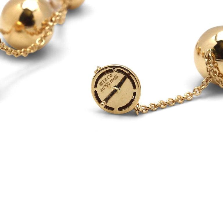 Women's or Men's Tiffany & Co. 'HardWear Triple-Drop' Yellow Gold Earrings For Sale