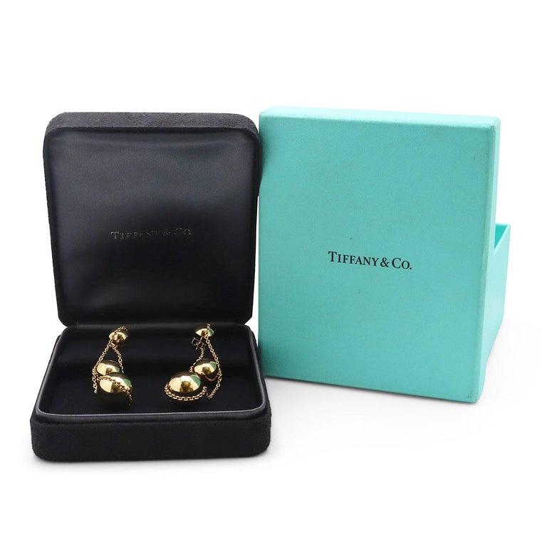 Tiffany & Co. 'HardWear Triple-Drop' Yellow Gold Earrings For Sale 1