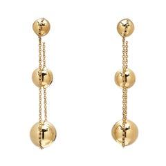 Tiffany & Co. 'HardWear Triple-Drop' Yellow Gold Earrings