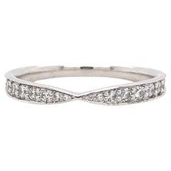 Tiffany & Co. Harmony Beat Set Round Diamond Wedding Band Ring Platinum
