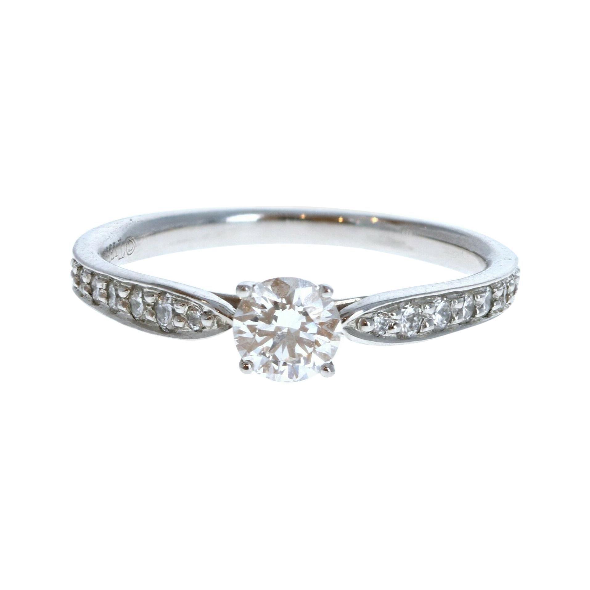 Tiffany & Co. Harmony Platinum & Diamond Engagement Ring 0.32ctw H VVS1