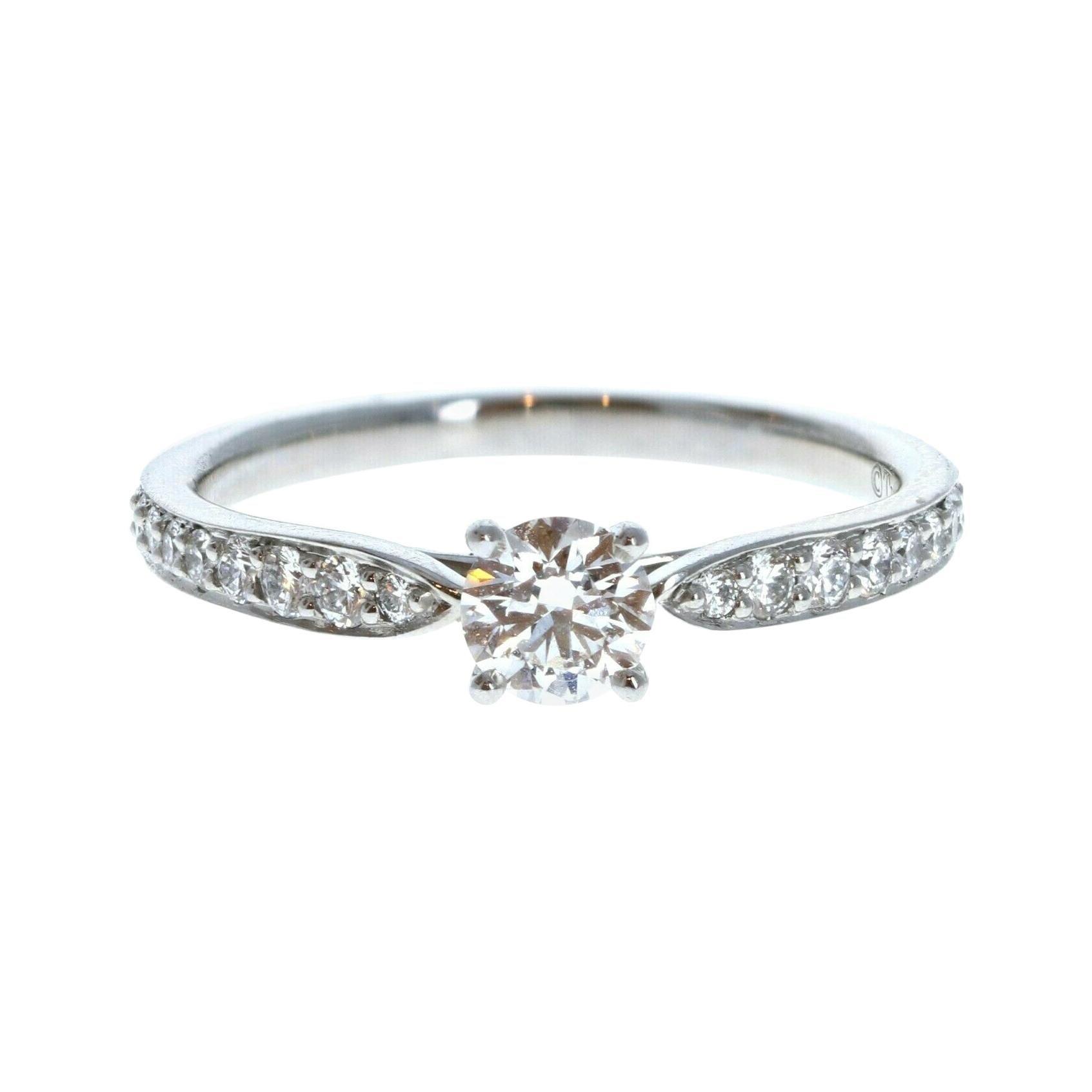 Tiffany & Co. Harmony Platinum & Diamond Engagement Ring 0.33ctw F VVS2