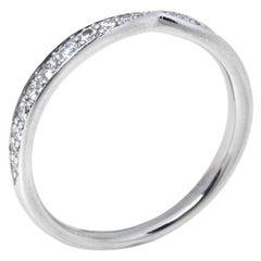 Tiffany & Co. Harmony Platinum Diamond Ring Size 55