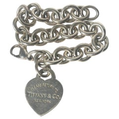 Tiffany & Co. Heart Charm Silver Bracelet