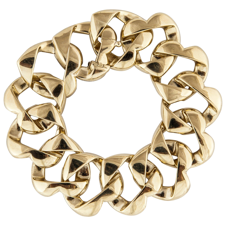 Tiffany & Co. Heart Link Bracelet in 18 Karat Yellow Gold