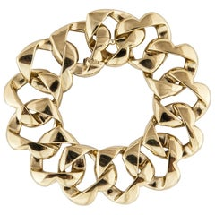 Tiffany & Co. Heart Link Bracelet in 18 Karat Yellow Gold