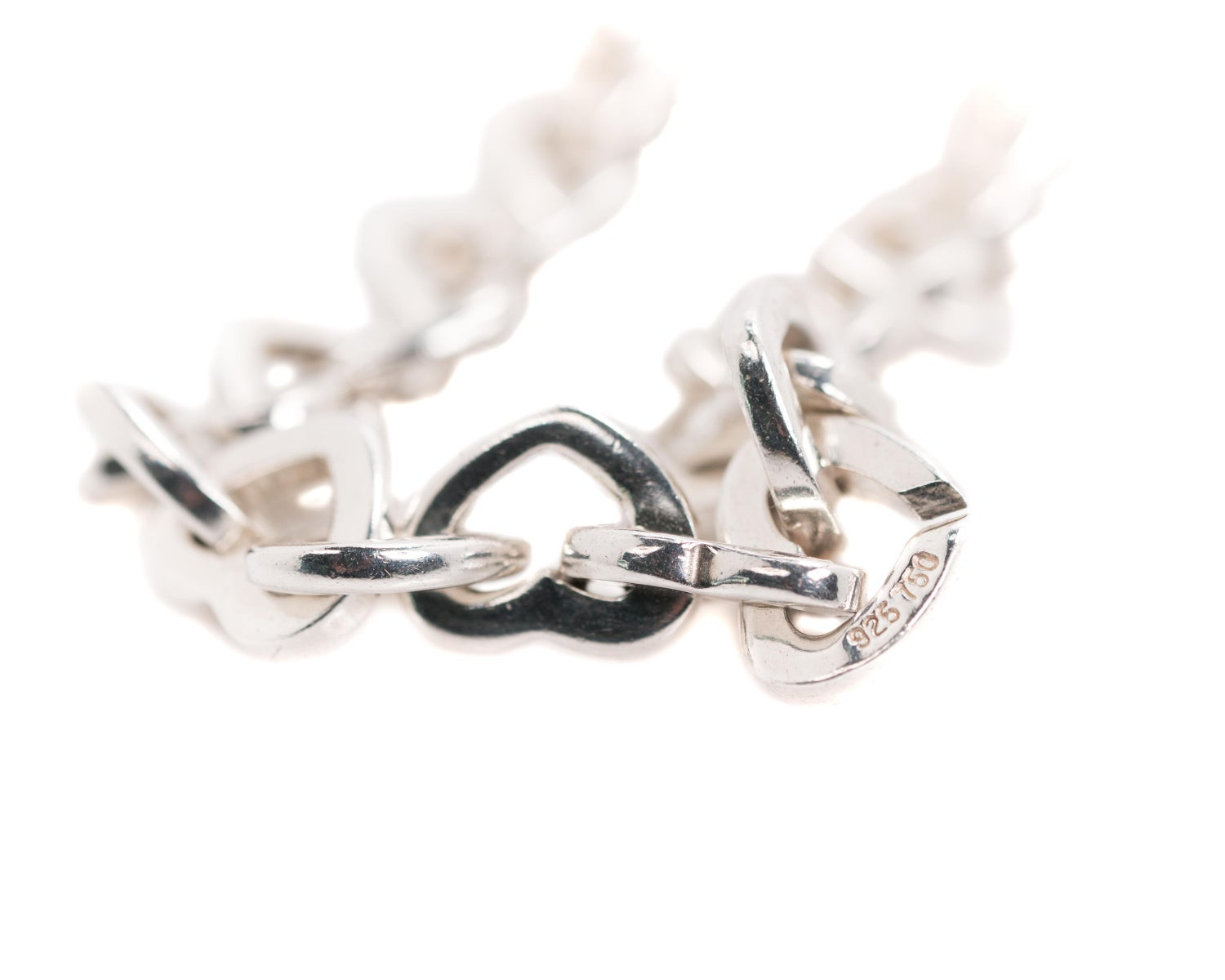 6f0938f84 Tiffany and Co. Heart Link Bracelet, Sterling Silver and 18 Karat Yellow  Gold For Sale at 1stdibs