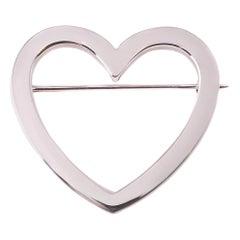 Tiffany & Co. Heart Pin in 18 Karat Gold