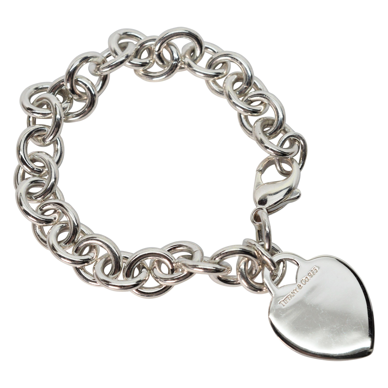 Tiffany & Co. Heart Tag Charm Chain Bracelet
